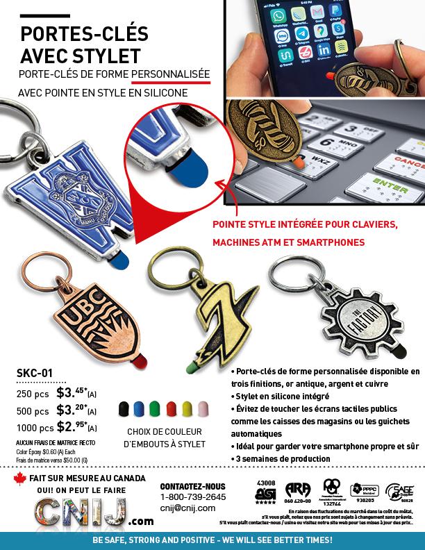 PORTES-CLÉS AVEC STYLET