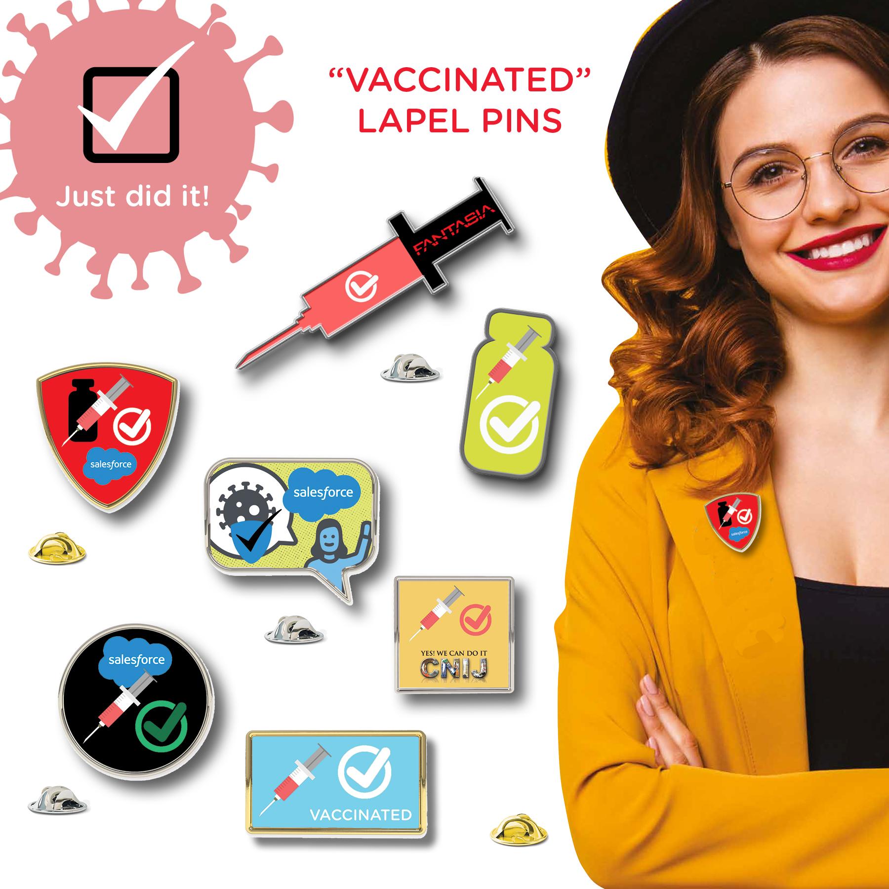 Vaccinated Lapel Pin