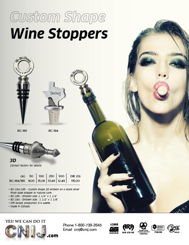 Custom Shape Wine Stoppers