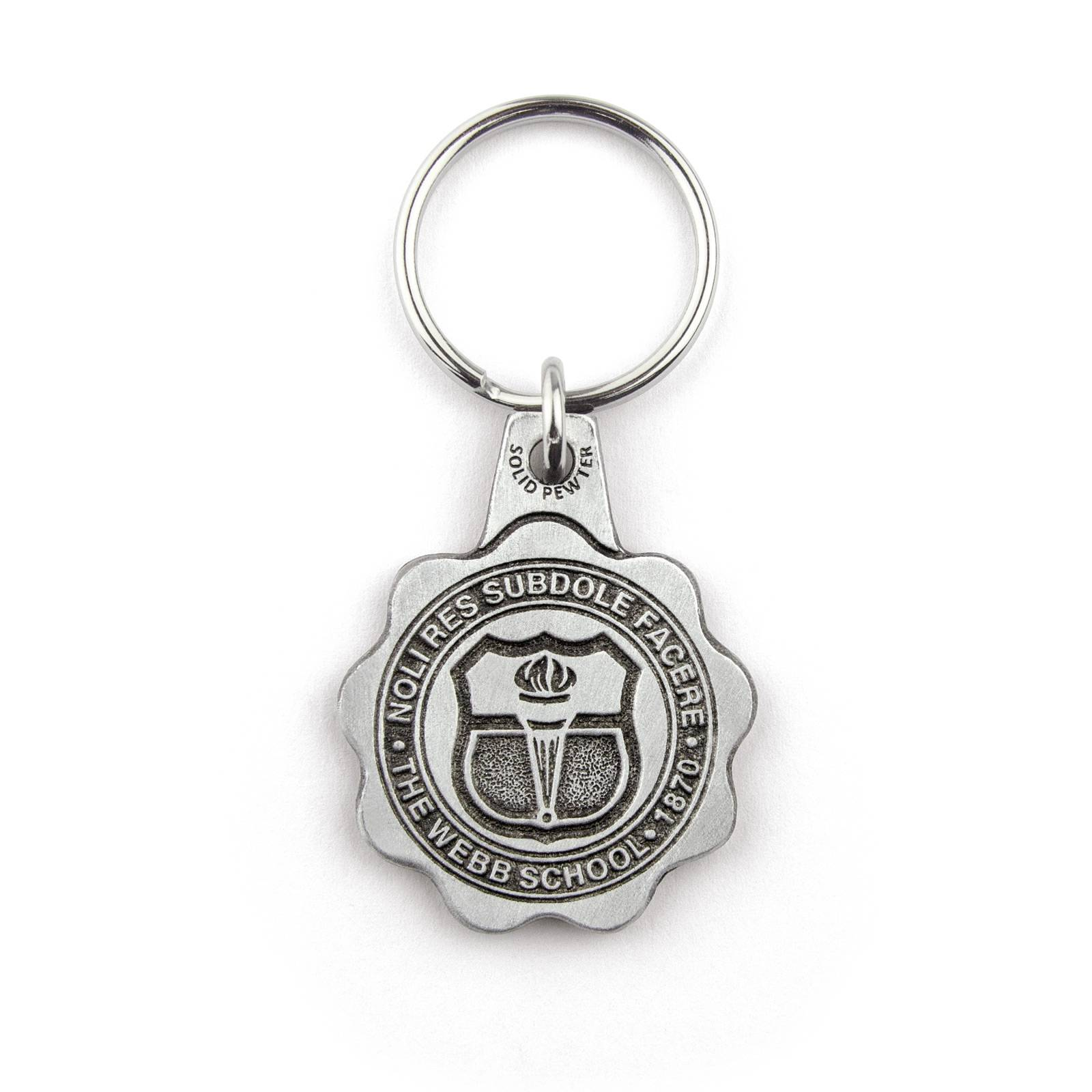 Solid Pewter 2D Key Chains